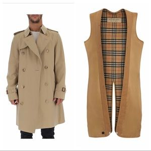 Auth Burberry trench coat w/removable lining